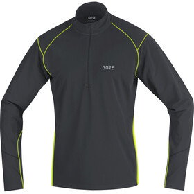 GORE WEAR R3 Thermo Long Sleeve Zip Shirt Men black/neon yellow